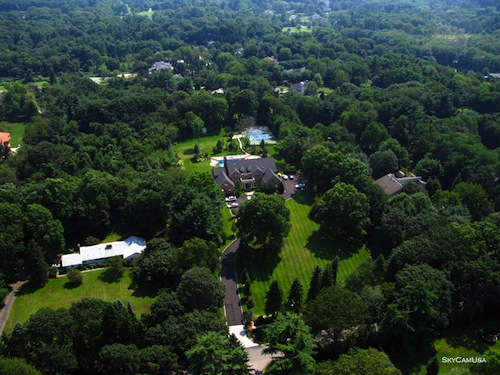 corporate housing property management with drones - ariel photos