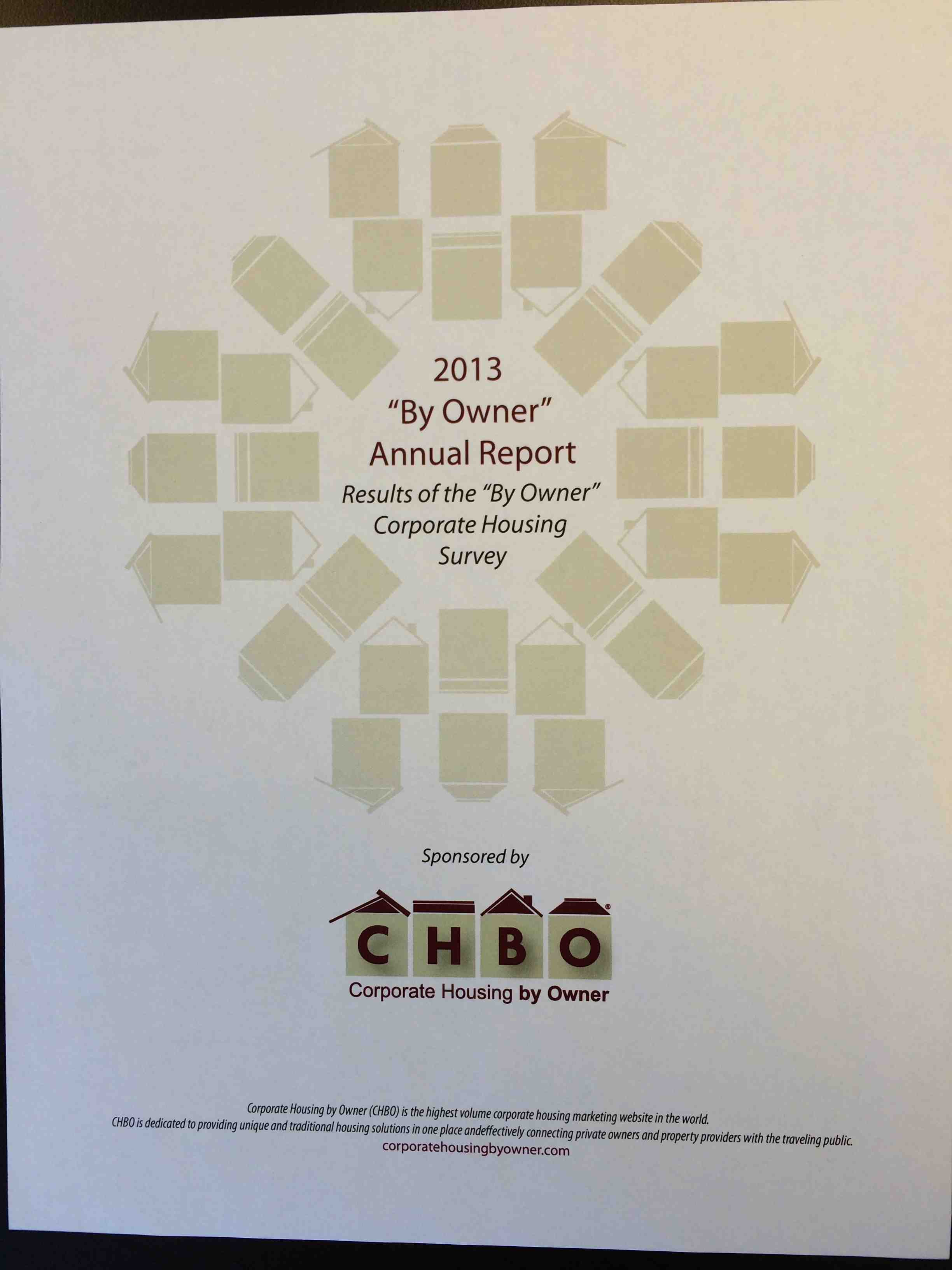 2013 By Owner Annual Report