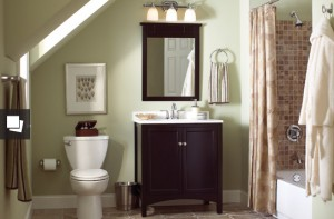 Storage space for smaller bathrooms