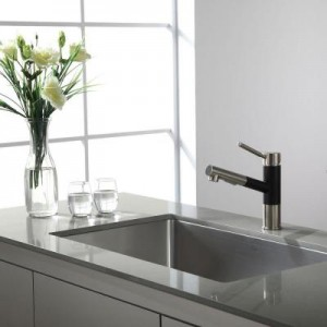 designer sink at corporate rental property