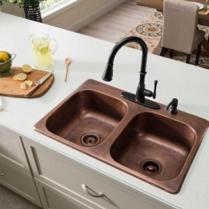 material of a sink at luxury rental property