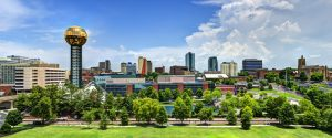 Furnished apartments in Knoxville, Tennessee, USA downtown at World's Fair Park.