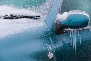 Car covered with Ice