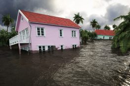 Save Download Preview flooding houses with rising water