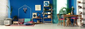 Colorful fully furnished room