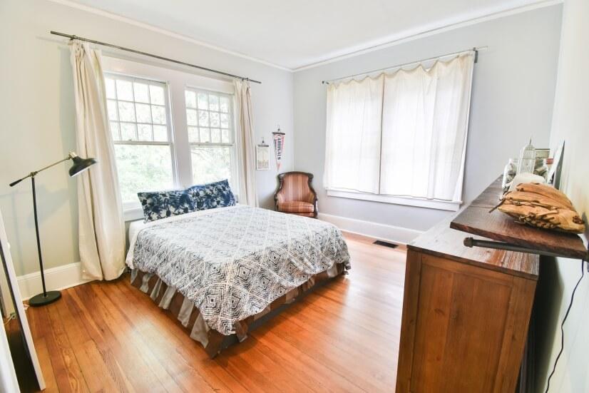 Master Bedroom with Queen Memory foam mattress