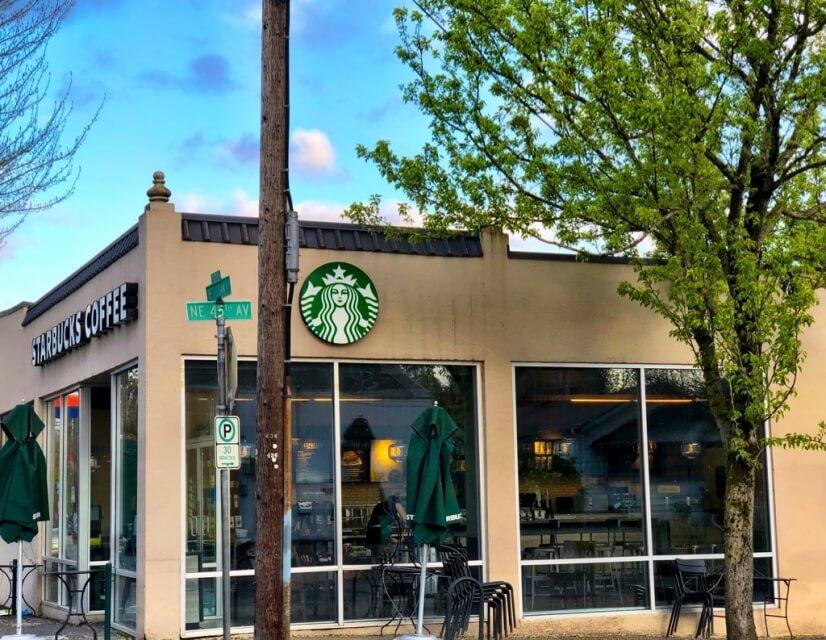 Neighborhood Starbucks is 4 doors down.
