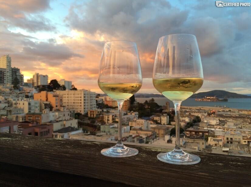A toast to a great day exploring SF!