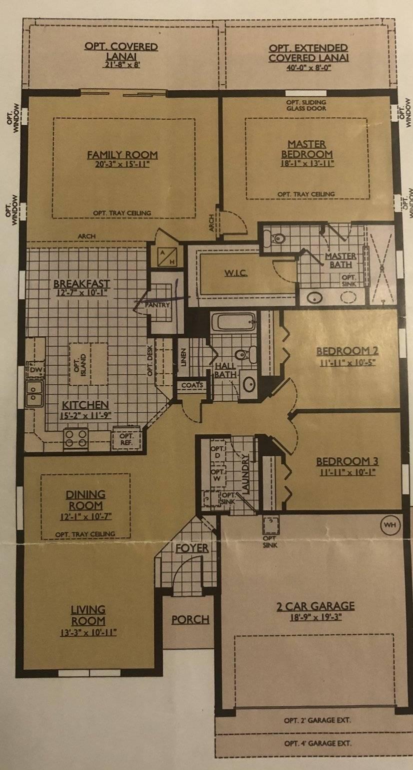 Actual floor plan and specs.