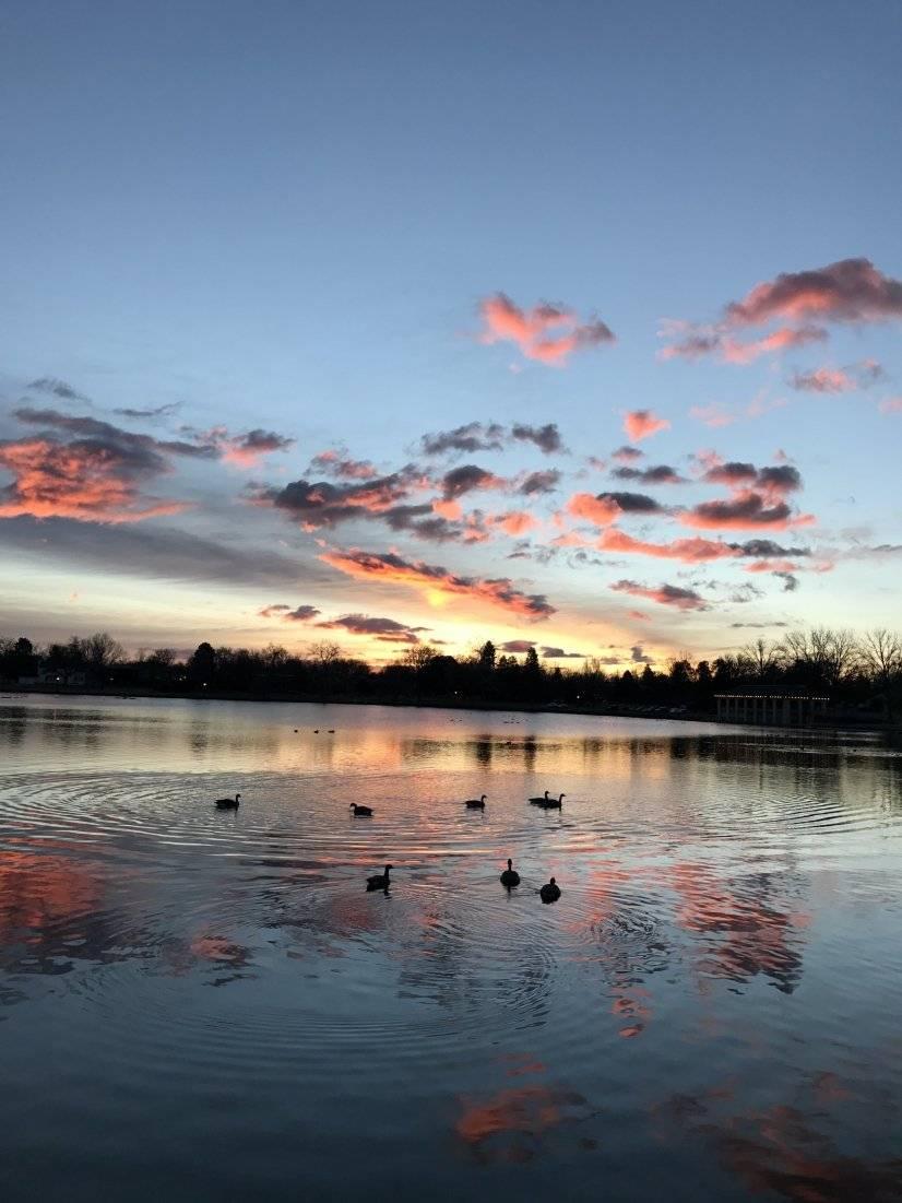Smith Lake at Washington Park at sunrise
