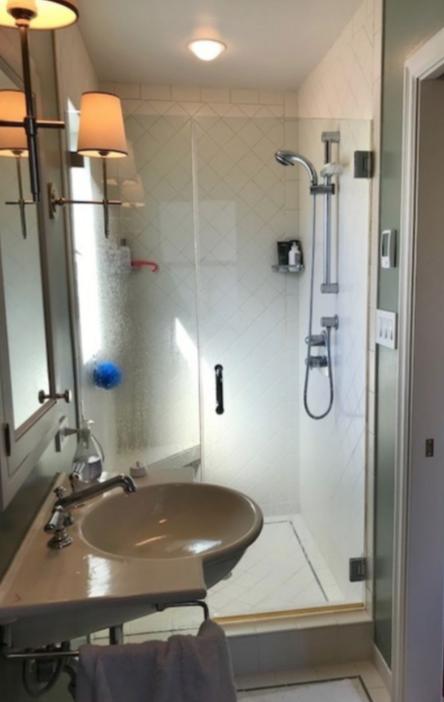 Guest bathroom with heated floors