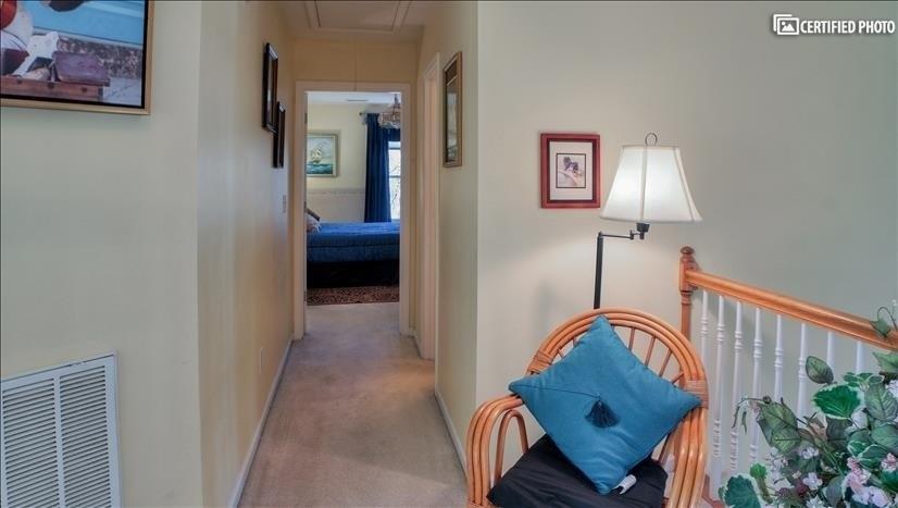 Hallway to bedroom #3 and bathroom