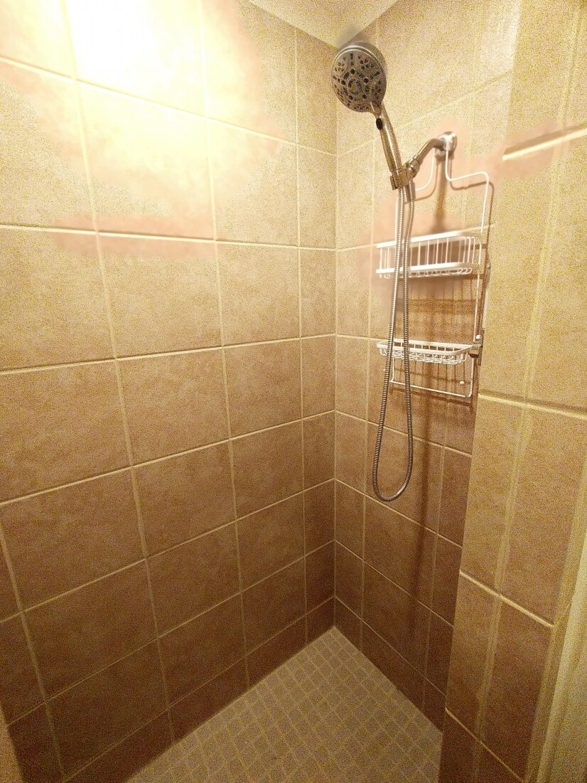 3 x 5 tiled shower.