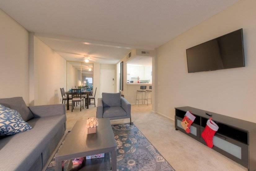 Living room with smart TV/netflix
