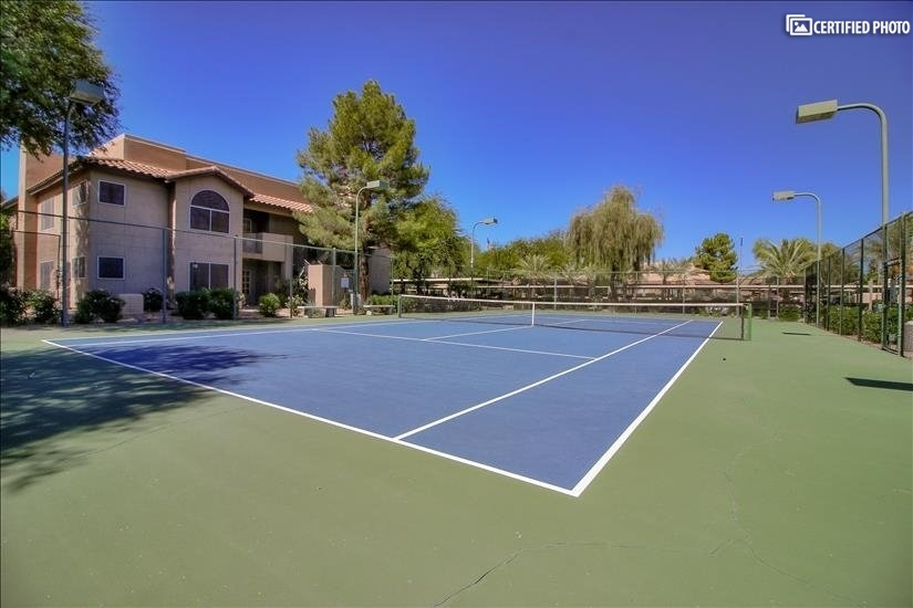 Refinished Tennis Courts (Pickle Ball Coming Soon, too!)