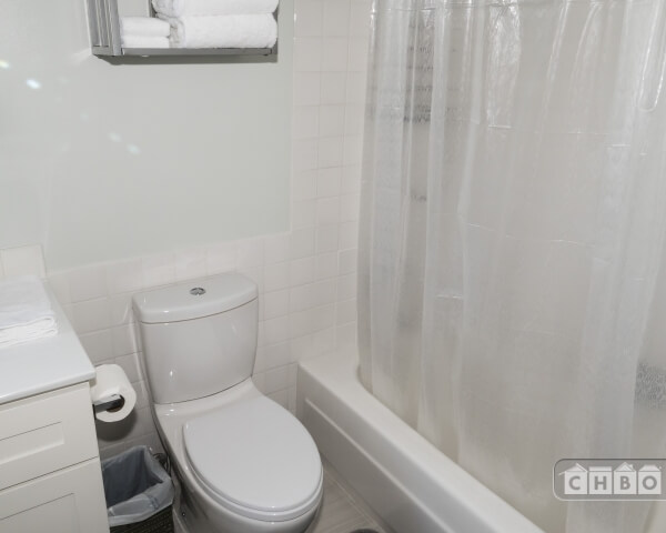 Low flush toilet and bath/shower