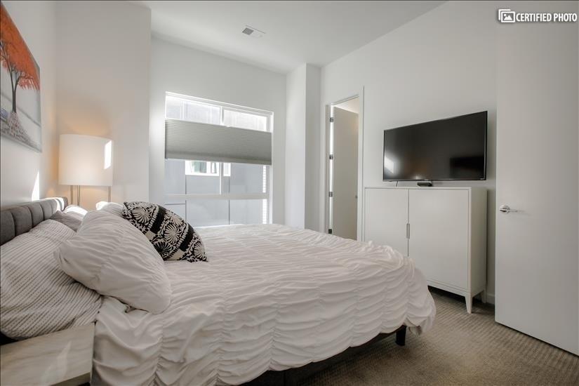Bedroom 2 with en suite bathroom.