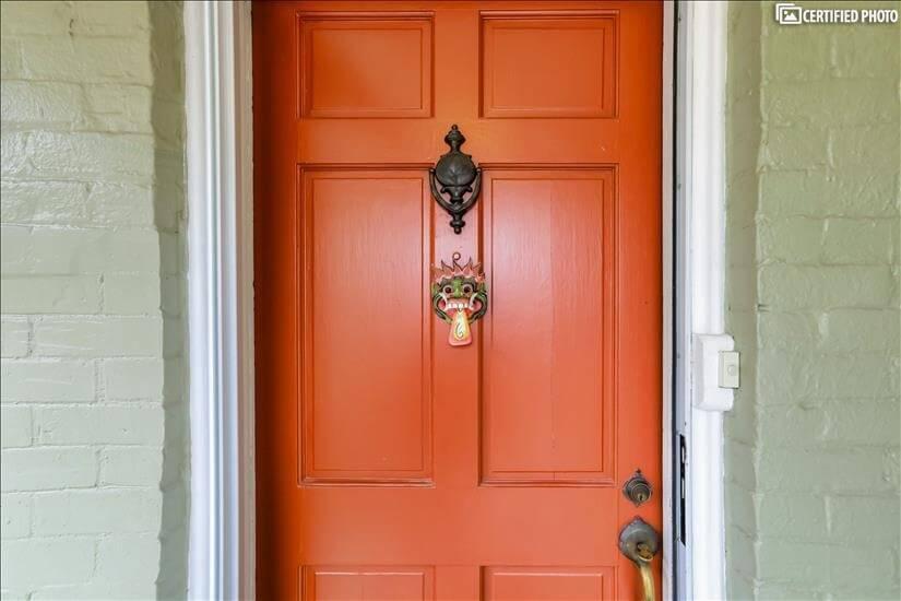 Security door can be glass or screen.