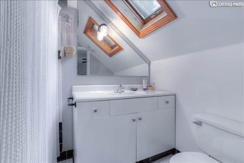 Master bath, new toilet