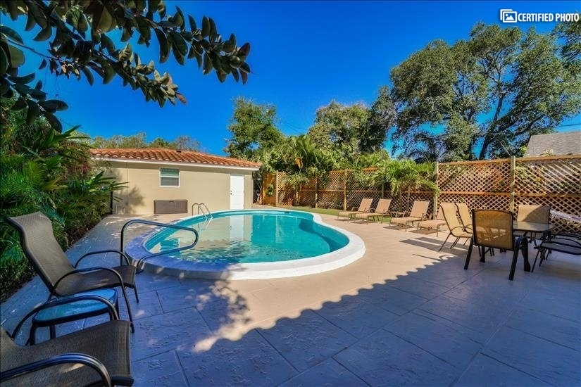 Beautifully maintained private pool for you and your guests.