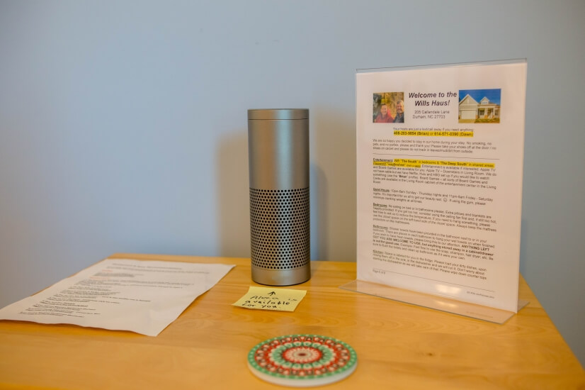 Alexa available, Information about your stay