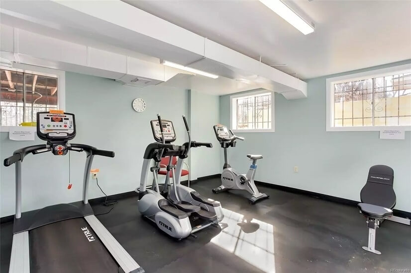 Exercise room just a few steps from your door