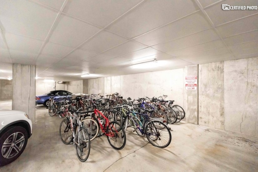 Garage parking for bikes and car
