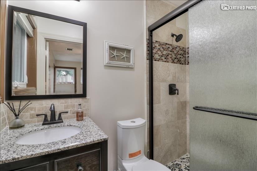 Bathroom attached to the Bed Room #1.