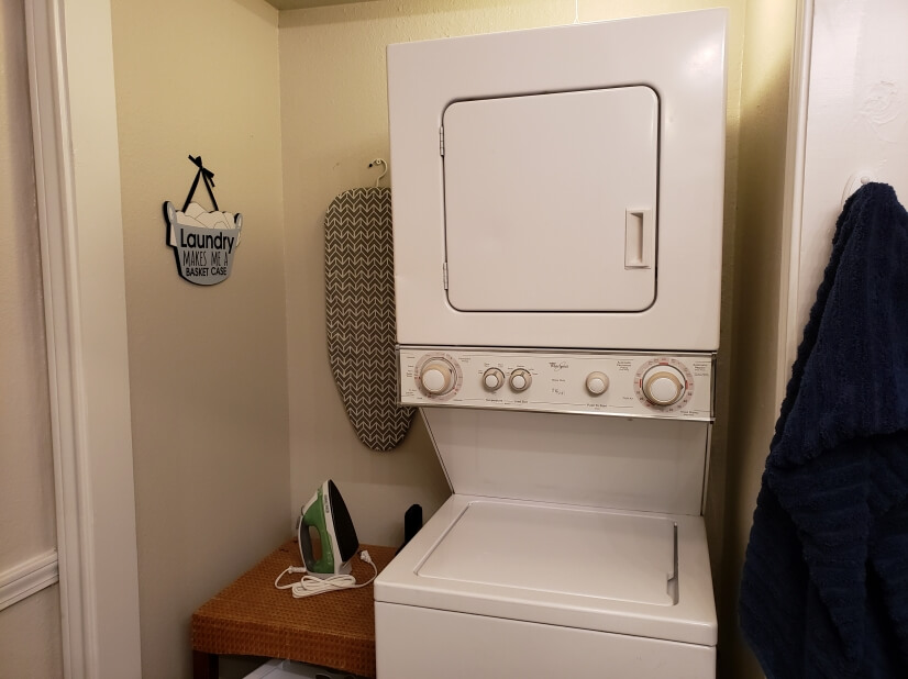 washer/dryer are in downstairs bathroom