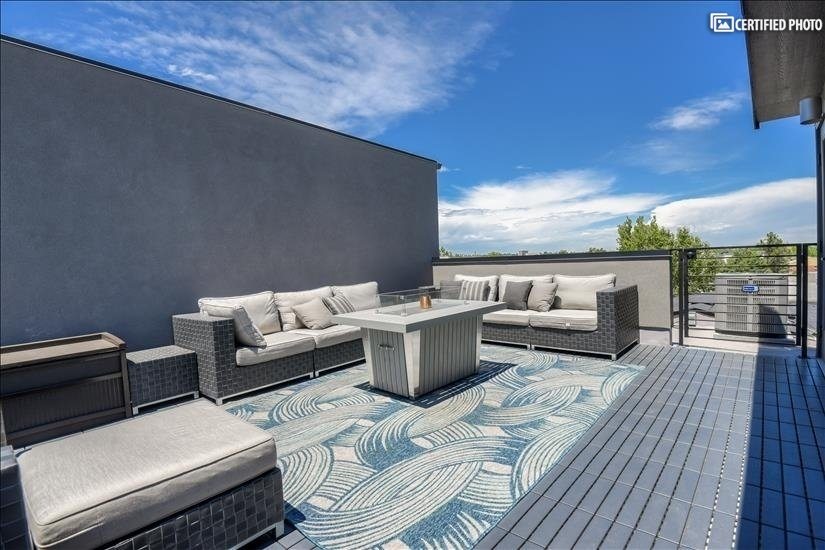 Enjoy a peaceful night on your private rooftop patio