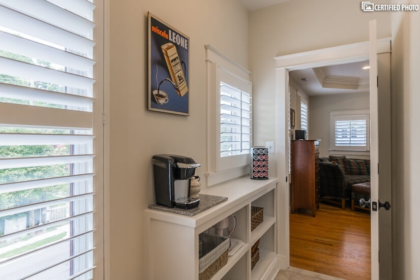 Coffee bar/Master Suite