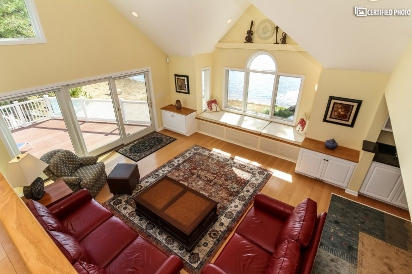 Great Room overview from pool table loft.