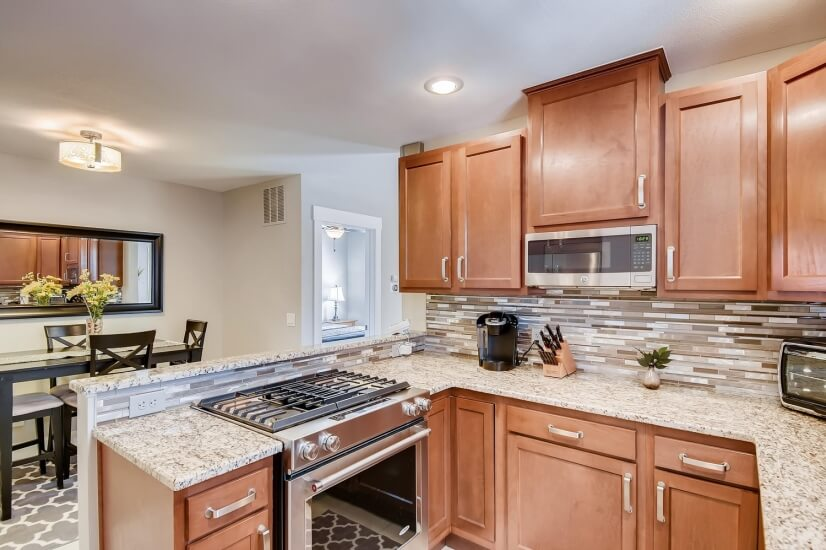 Well appointed kitchen with modern appliances