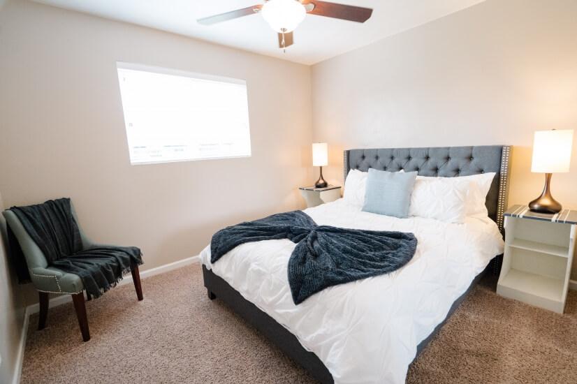 3 Bedrooms with Luxury Queen Beds