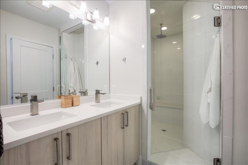 Large Walk-in European Style Shower in Master Bath