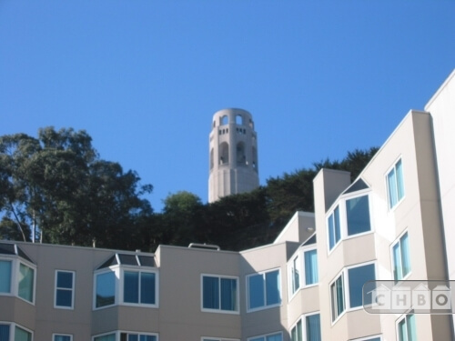 View of Coit Tower from the property