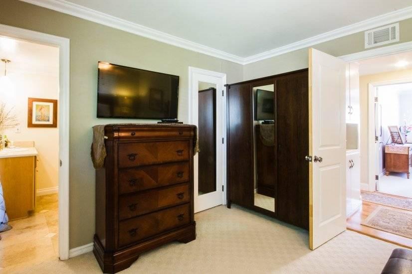 Master Bedroom 3 door wardrobe closet with mirror, 5 drawers