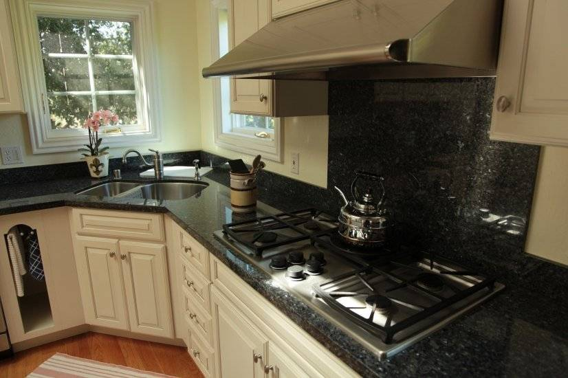 Kitchen with Gas Stove and Granite Countertops