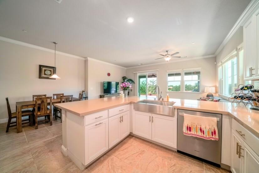 Big quartz kitchen island