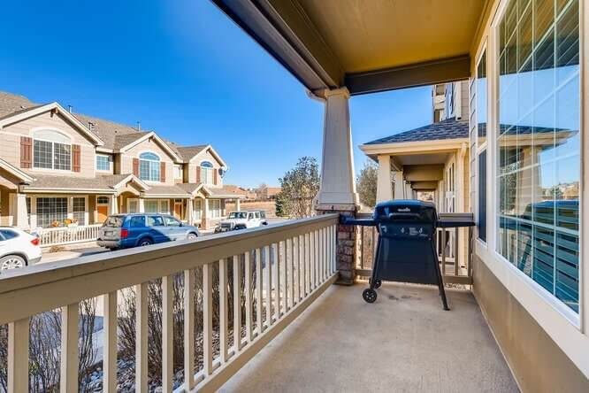 Front Porch with gas grill