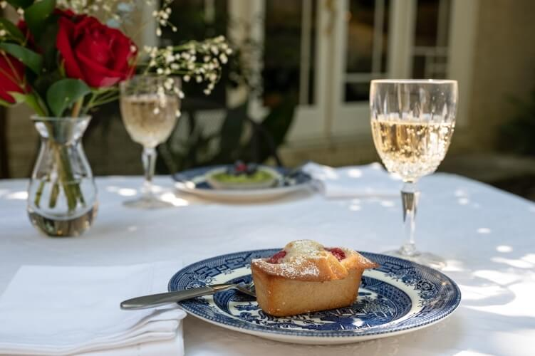 Enjoy pastries from Alon's on your patio