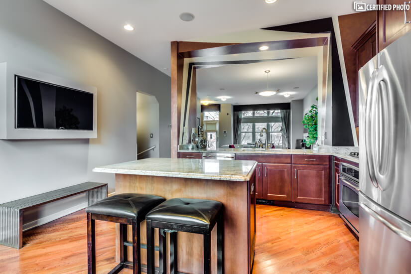 Open Kitchen with upgraded appliances