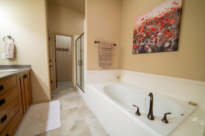 Master bathroom with deep soak tub