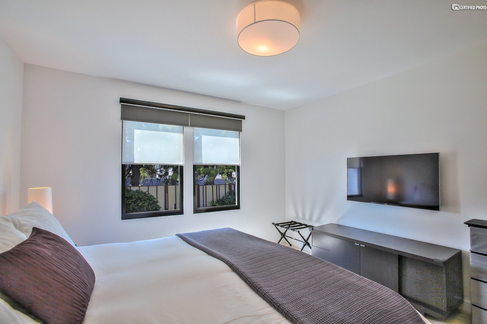 Master bedroom, with TV and Apple TV