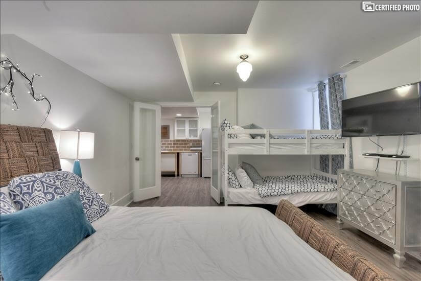 Bedroom with door