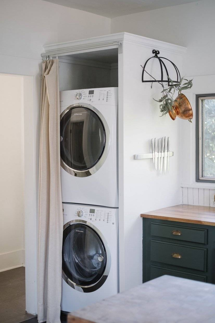 washer/ dryer in kitchen