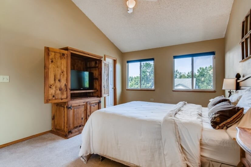 Side view of master bedroom