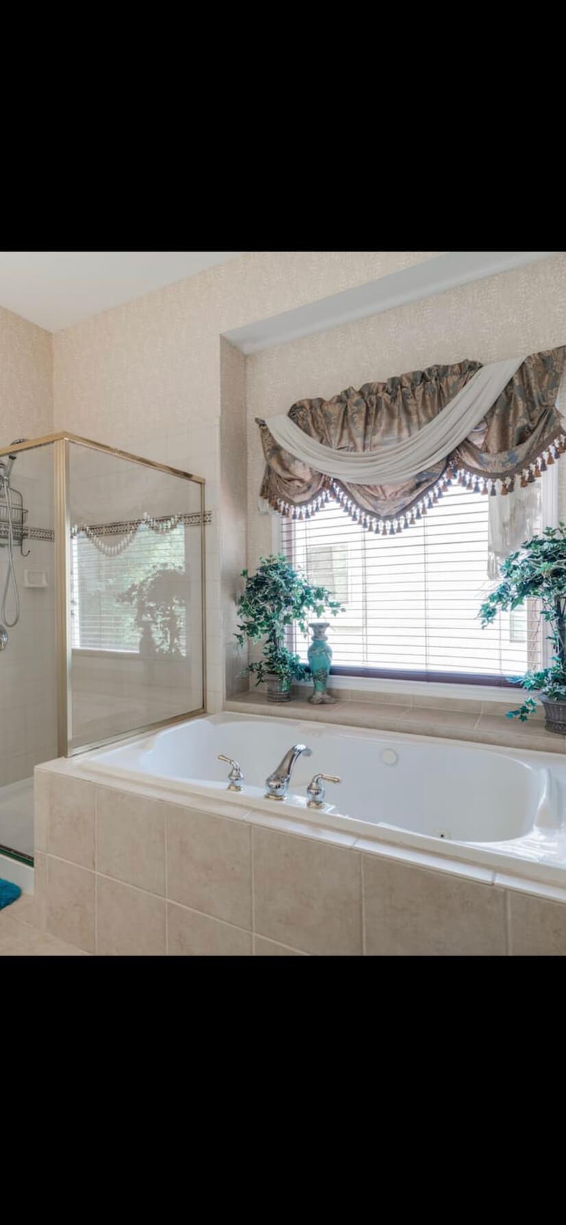 Large Garden Tub in Master bedroom