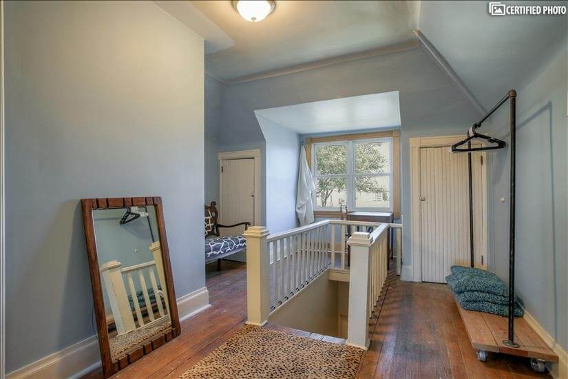 Upstairs - desk with view to backyard