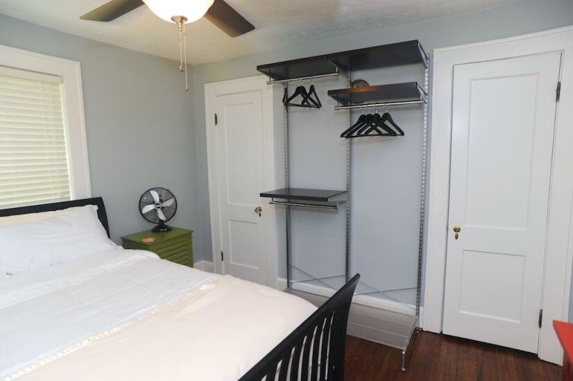 Bedroom 1 (2 closets and 1 open closet)